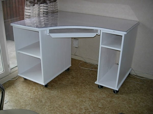 bureau d 39 angle laqu blanc louis l 39 b niste. Black Bedroom Furniture Sets. Home Design Ideas