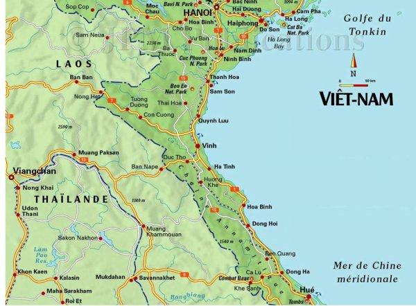 carte centre vietnam