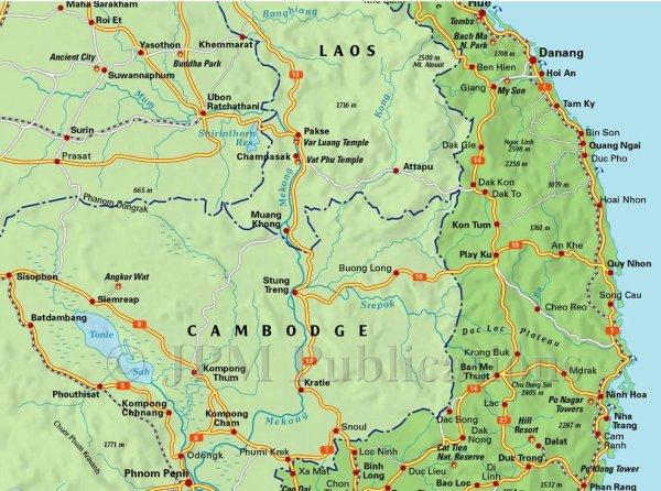 carte sud vietnam partie 1