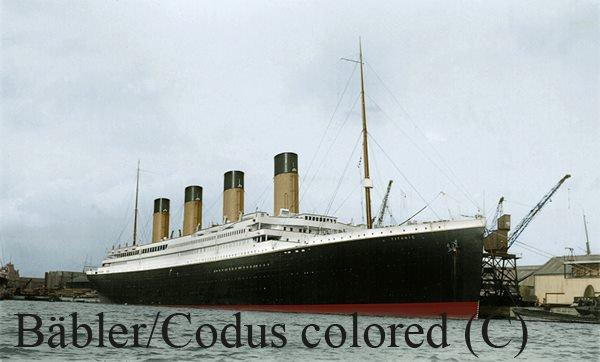 Colorisation du RMS TItanic