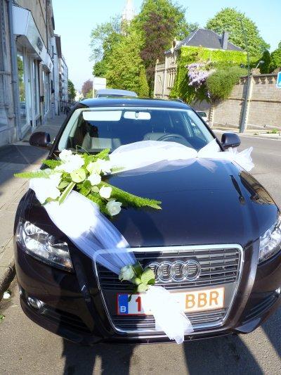 Décoration voiture pour mariage - Le jardin dYvan