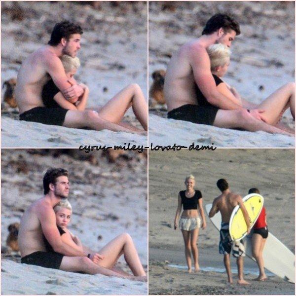 Le 17 janvier , Miley & Liam �tait a la plage � Costa Rica .