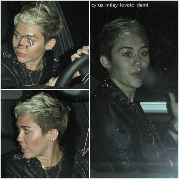 Le 27 février , Miley a quitter son studio d'enregistrement , Los Angeles.