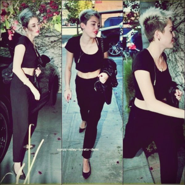 Le premier Mars , Miley arrivant a un studio d'enregistrement a Los Angeles + Un tout nouveau photoshoot de Miley réaliser par Brian Bowen Smith.