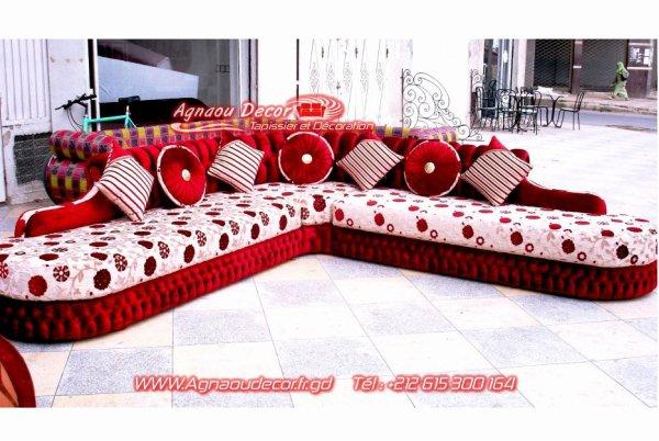 blog de salons marocains page salon marocain moderne tapissier rideaux stors skyrockcom - Canape Marocain Rouge