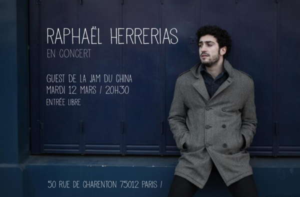Rapha�l Herrerias en concert au China � Paris 12 Mars 2013