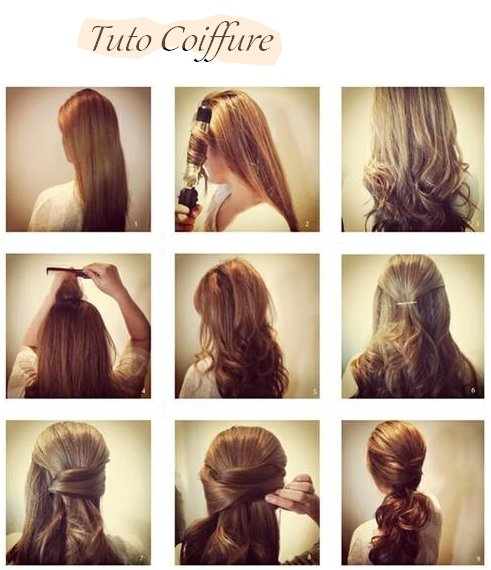 Tuto Coiffure Cheveux Lisse Coupe Cheveux Long