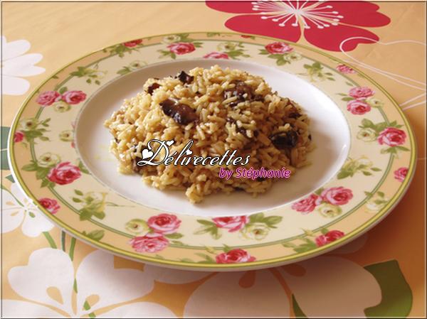 Riz saut aux champignons et au curry d lirecettes - Peut on donner du riz cuit aux oiseaux ...
