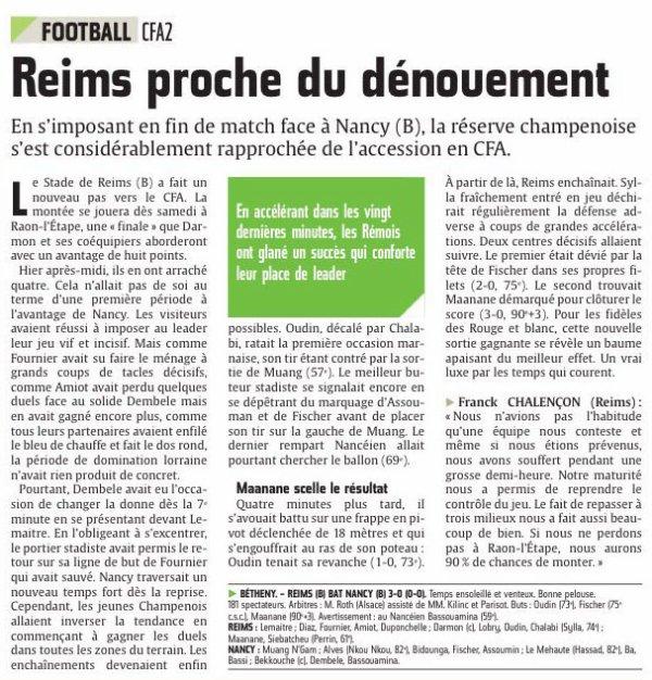 2015 CFA2 J22 REIMS NANCY 3-0, le 01/05/2016