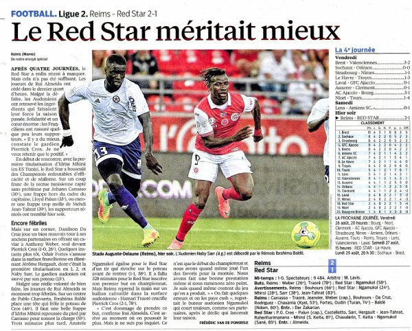 2016 Ligue 2 J04 REIMS RED STAR 2-1, le 22/08/2016
