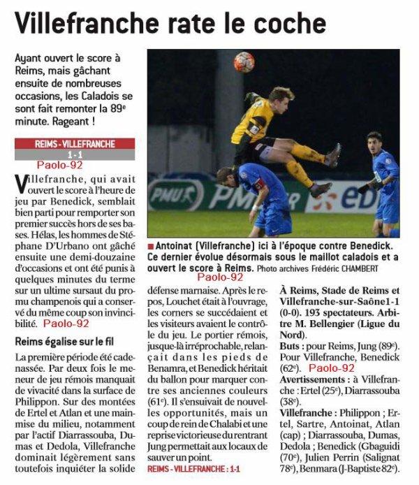 2016 CFA J06 REIMS VILLEFRANCHE 1-1, le 18/09/2016