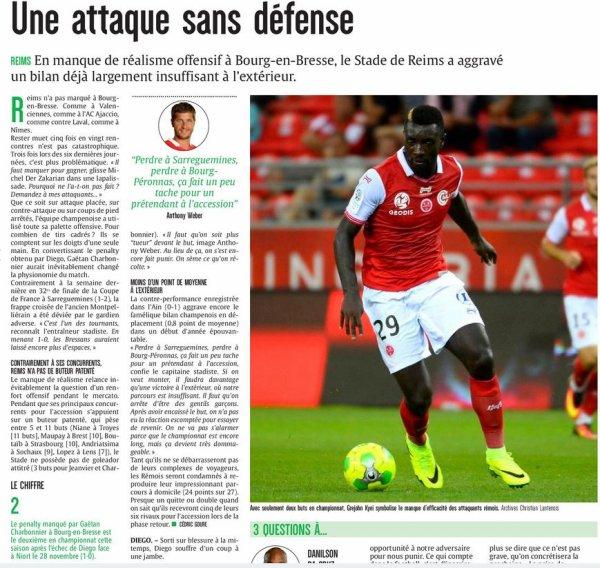 2016 Ligue 2 J20 BOURG en BRESSE REIMS 1-0,les + du Blog, le 15/01/2017