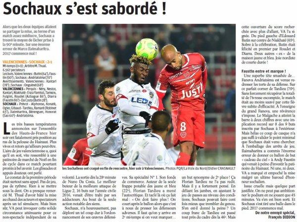 2016 Ligue 2 J20 VALENCIENNES SOCHAUX 2-1, le 16/01/2017
