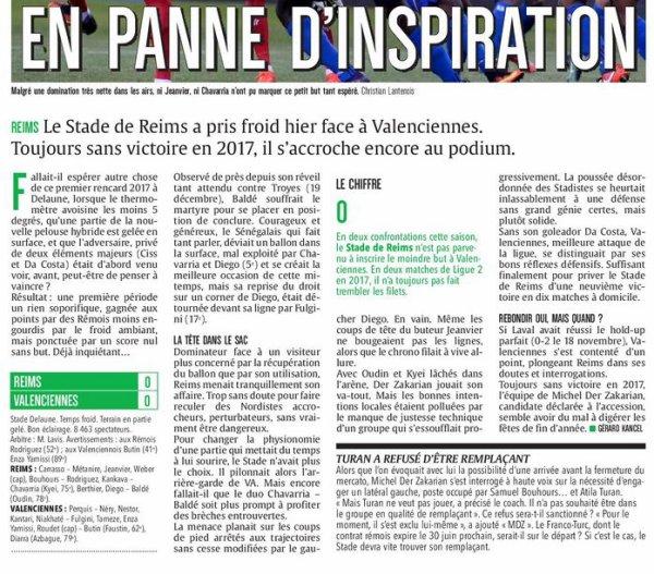 2016 Ligue 2 J21 REIMS VALENCIENNES 0-0, le 20/01/2017