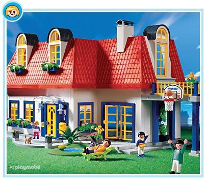 9 maison moderne 3965 maison moderne 7336 7337 7338 for Playmobil haus schlafzimmer