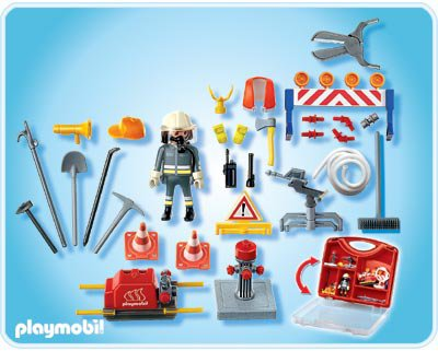 27 caserne pompier materiel 4180 valisette pompier accessoires photo archive article playmobil. Black Bedroom Furniture Sets. Home Design Ideas