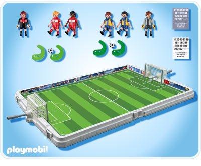 FOOTBALL SOCCER Terrain de football et joueurs transportable