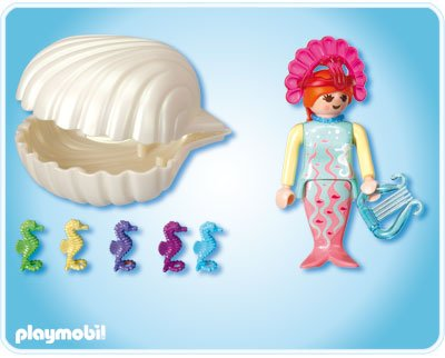 4813-Sirène Avec Bébés Hippocampes de Playmobil