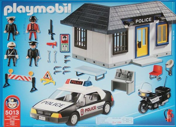 24a policiers batiment 5013 poste de police photo archive article playmobil. Black Bedroom Furniture Sets. Home Design Ideas