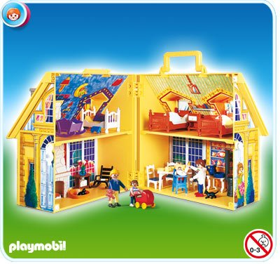 9 maison moderne 5763 4145 maison de famille transportable photo archive article playmobil. Black Bedroom Furniture Sets. Home Design Ideas