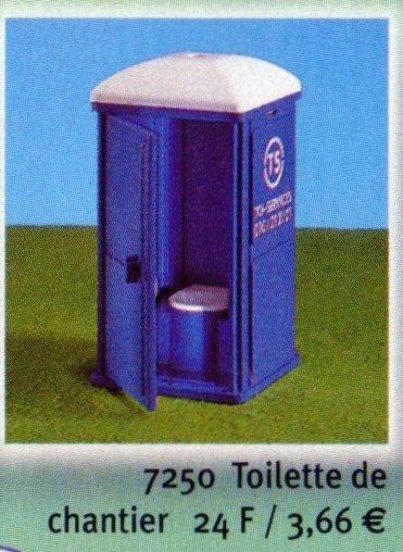 19a chantier divers 7250 toilette de chantier photo archive article playmobil. Black Bedroom Furniture Sets. Home Design Ideas