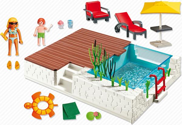 09 maison moderne luxe 5575 piscine avec terrasse photo for Piscine playmobil 5575