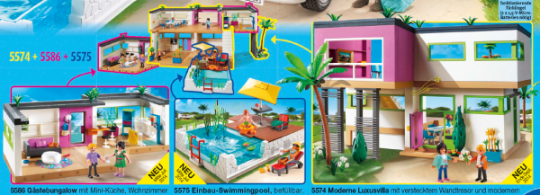 09 maison moderne luxe 5575 piscine avec terrasse photo archive article playmobil for Maison moderne de luxe avec piscine