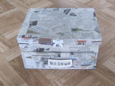 Boite bijoux en carton blog de clem creations - Boite en carton decoree ...