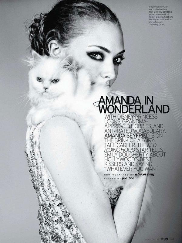 Amanda Seyfried for Elle US ( April 2011 )