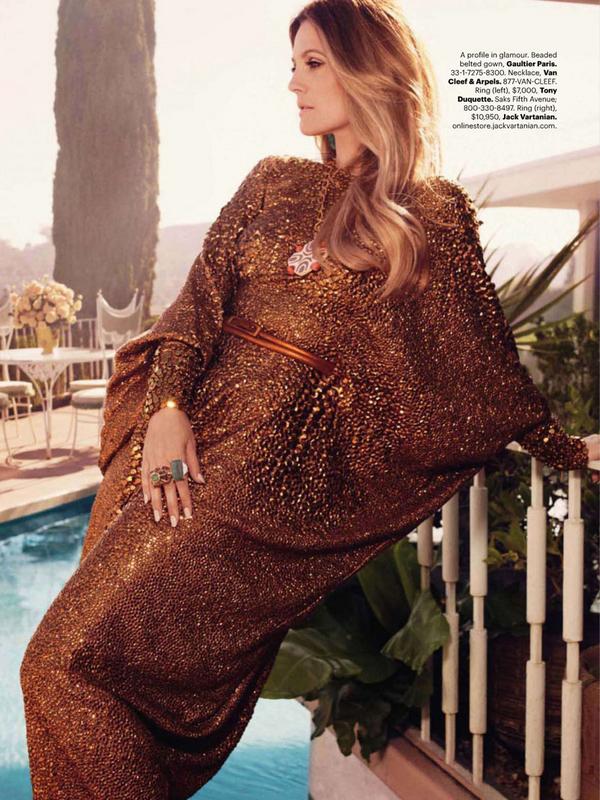 Drew Barrymore for Harper's Bazaar US ( October 2010 )