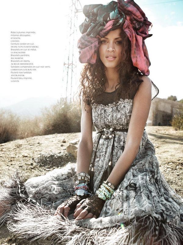 Noemie Lenoir  for French Revue de Modes  ( Spring 2011 )