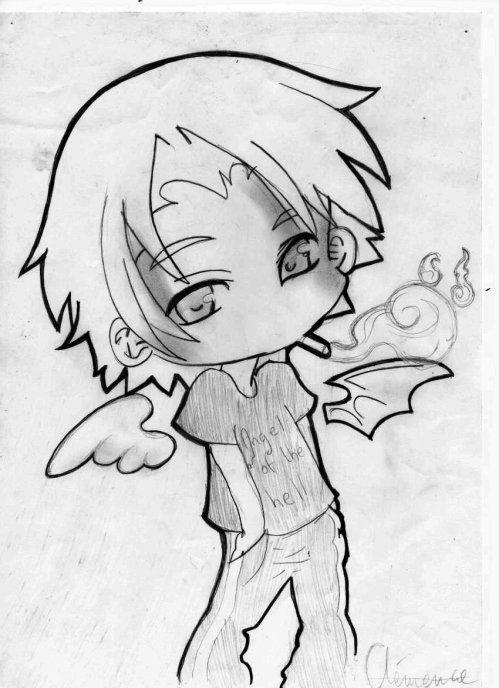 Ange ou demon dessin de tuhua - Dessin de demon ...