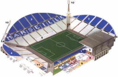 Plan stade v lodrome le sport dans tous ses tats for Porte 7 stade velodrome