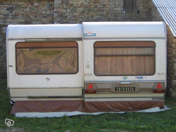 une belle et rare occasion saisir sur leboncoin avec auvent rigide la boheme caravane. Black Bedroom Furniture Sets. Home Design Ideas