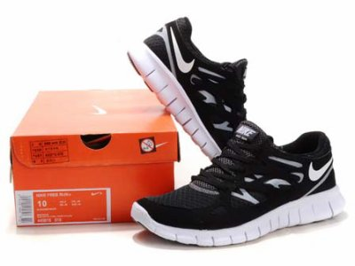 Nike Free Run + 2 Running Shoes 2011 Black White running shoes