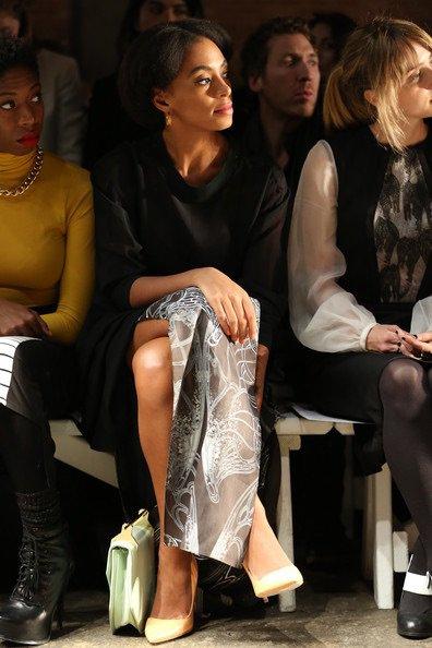 #solange Knowles un look plus sage