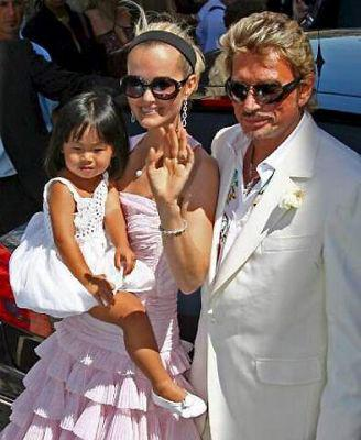 johnny hallyday l 39 anniversaire de mariage hallyday. Black Bedroom Furniture Sets. Home Design Ideas