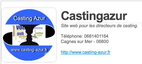 Nouvelle version Casting Azur