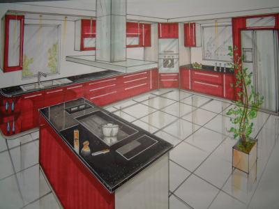 Projet d 39 une cuisine moderne fabrice for Amenagement d une cuisine