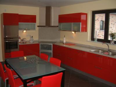 Cuisine rouge fabrice for Cuisine en rouge et blanc