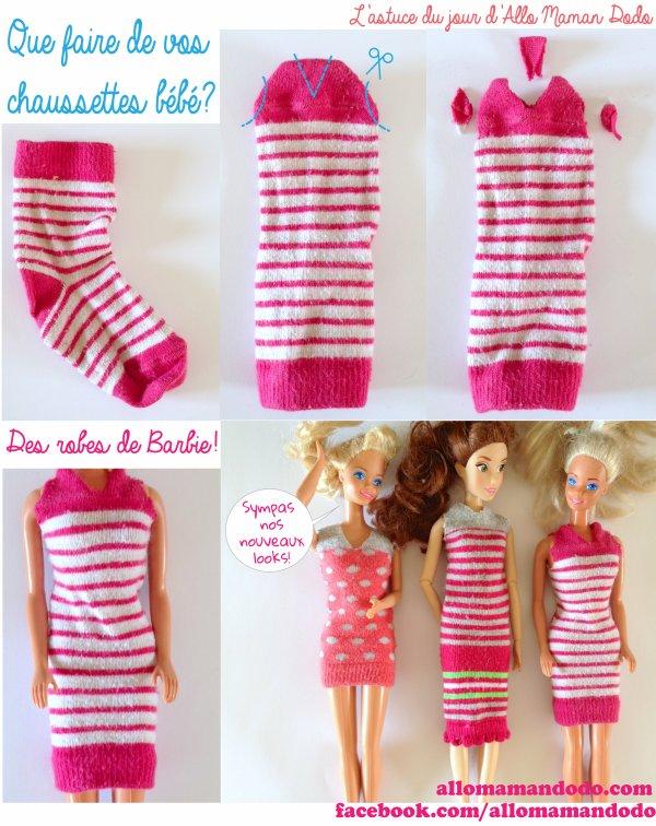 Habilles Barbie en deux temps; trois mouvements.