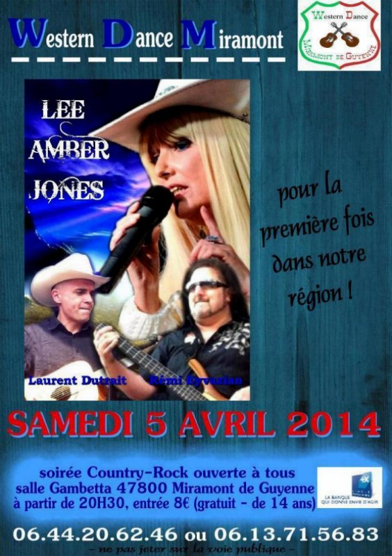 LEE AMBER JONES en concert le 27/02/14 � Dreux (28)
