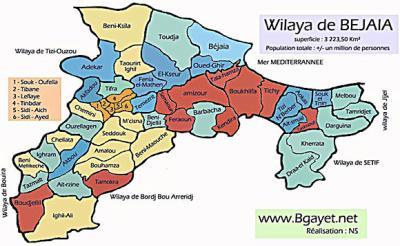 Bejaia map satellite