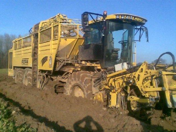 2012 - Saison betteravi�re 2012 - Accident - Danger - Arracheuse Betteraves - ROPA - HOLMER - Sur les champs, le gros mat�riel peut �tre dangereux et occasionner beaucoup de contraintes.