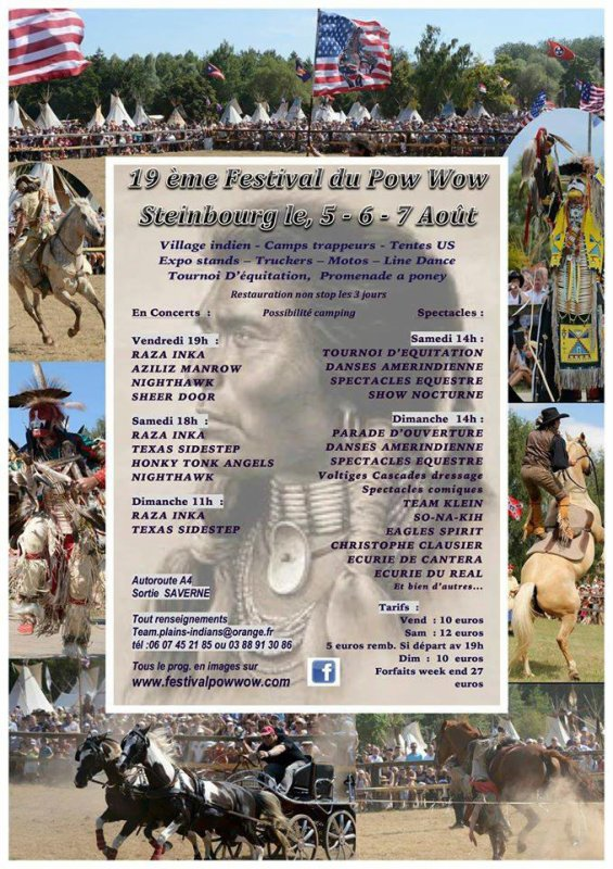 Festival Pow Wow  Steinbourg Ao�t 2016