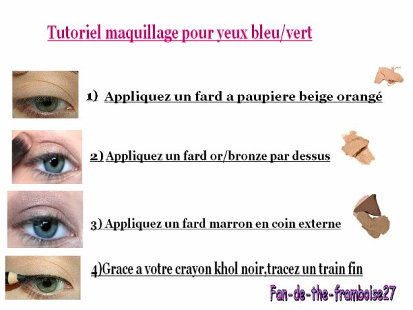 tutoriel maquillage pour les yeux vert et bleu. Black Bedroom Furniture Sets. Home Design Ideas