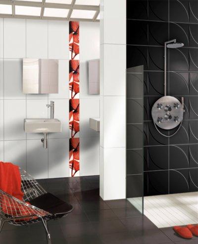 Salle de bain notre lodie 6 - Salle de bain rouge et noir ...