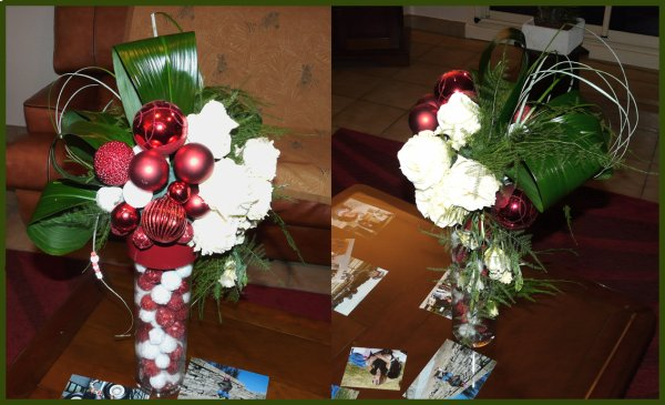 Ma composition de noel nouvellepassion for Art floral centre de table noel