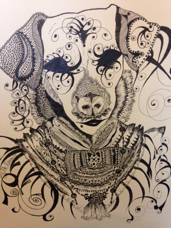 chien habill� et fantaisie !!!!