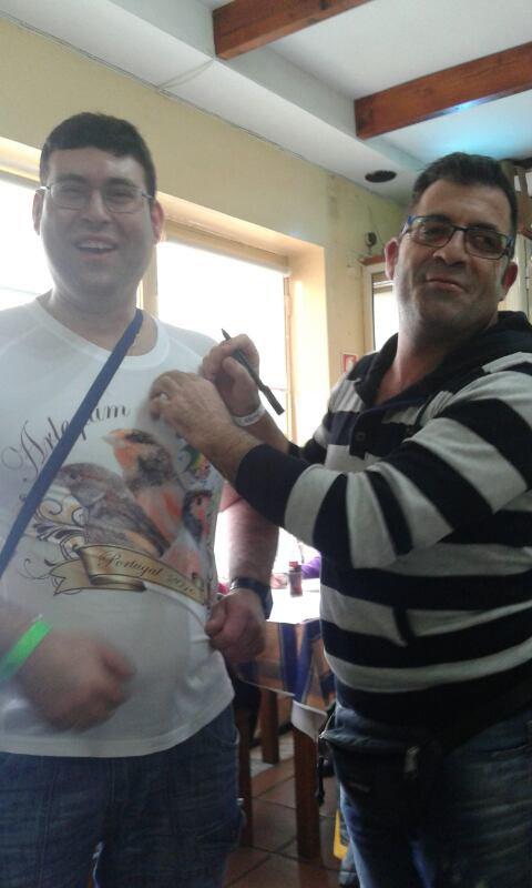 Moi et Dario Campion du Monde canaris Arlequim Portugues